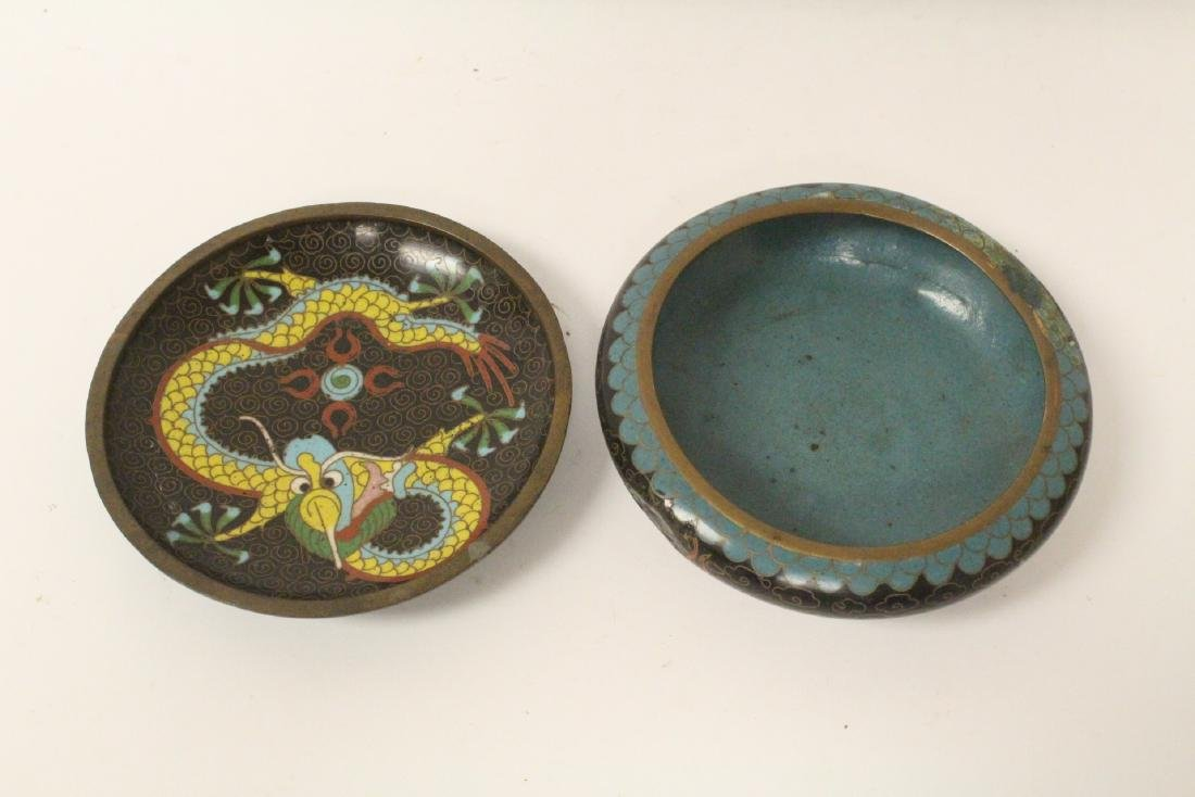 6 pieces Chinese vintage cloisonne - 9