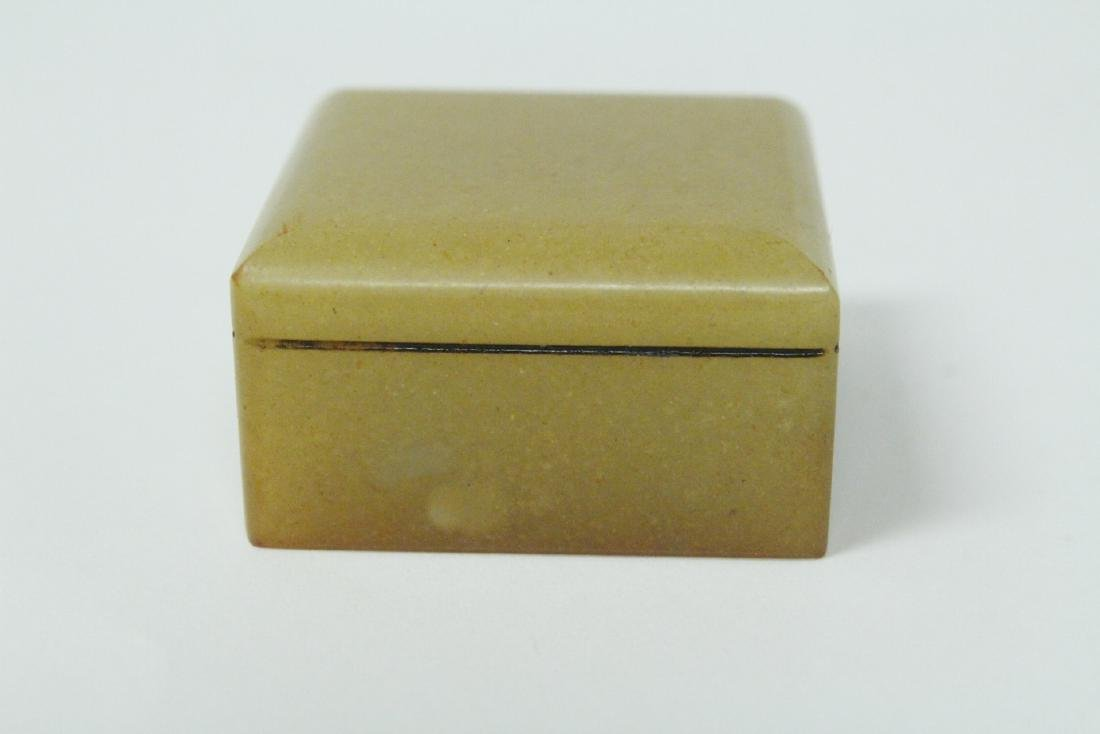 Shoushan stone seal in box - 5