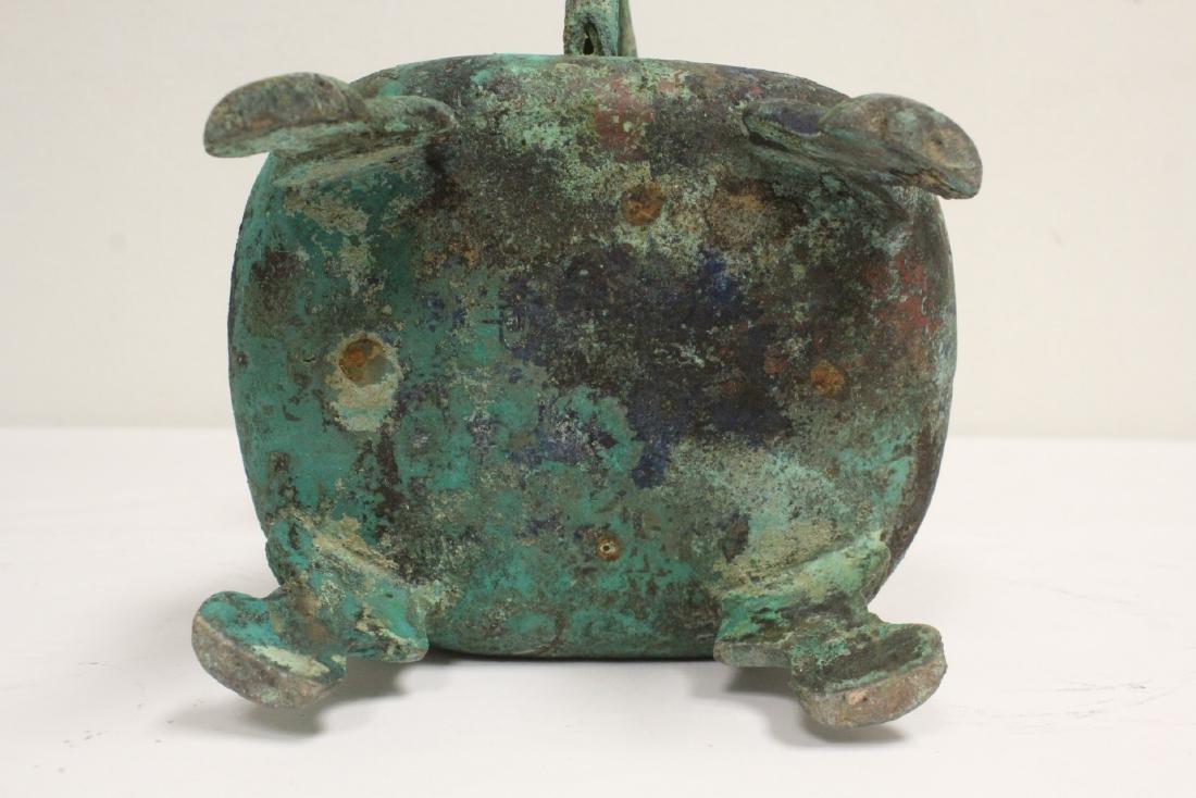 Chinese archaic style bronze handled hu - 8