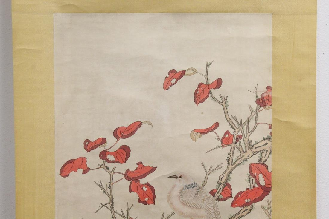 """Chinese watercolor scroll """"birds and flowers"""" - 3"""
