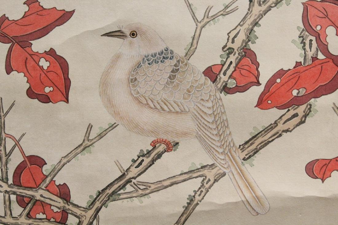 "Chinese watercolor scroll ""birds and flowers"" - 6"