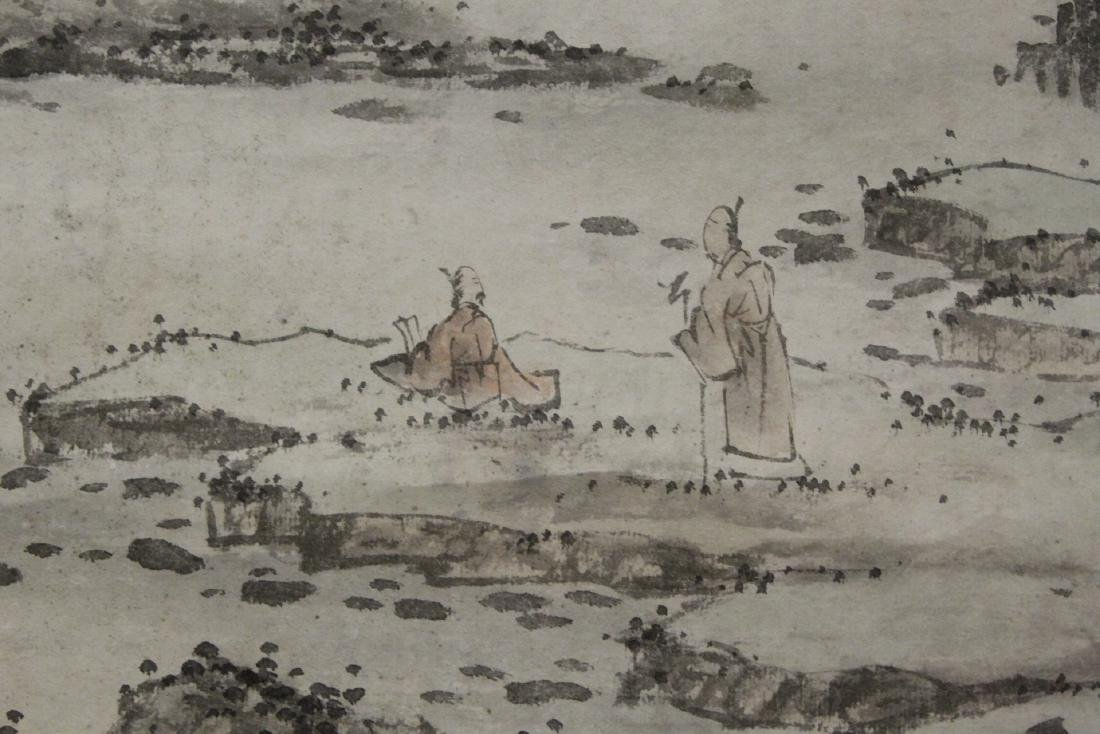 Chinese large watercolor scroll - 10