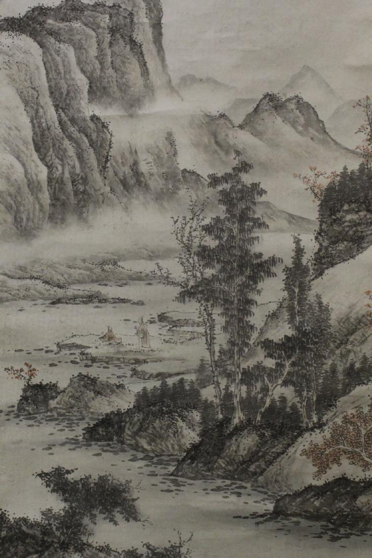 Chinese large watercolor scroll - 3