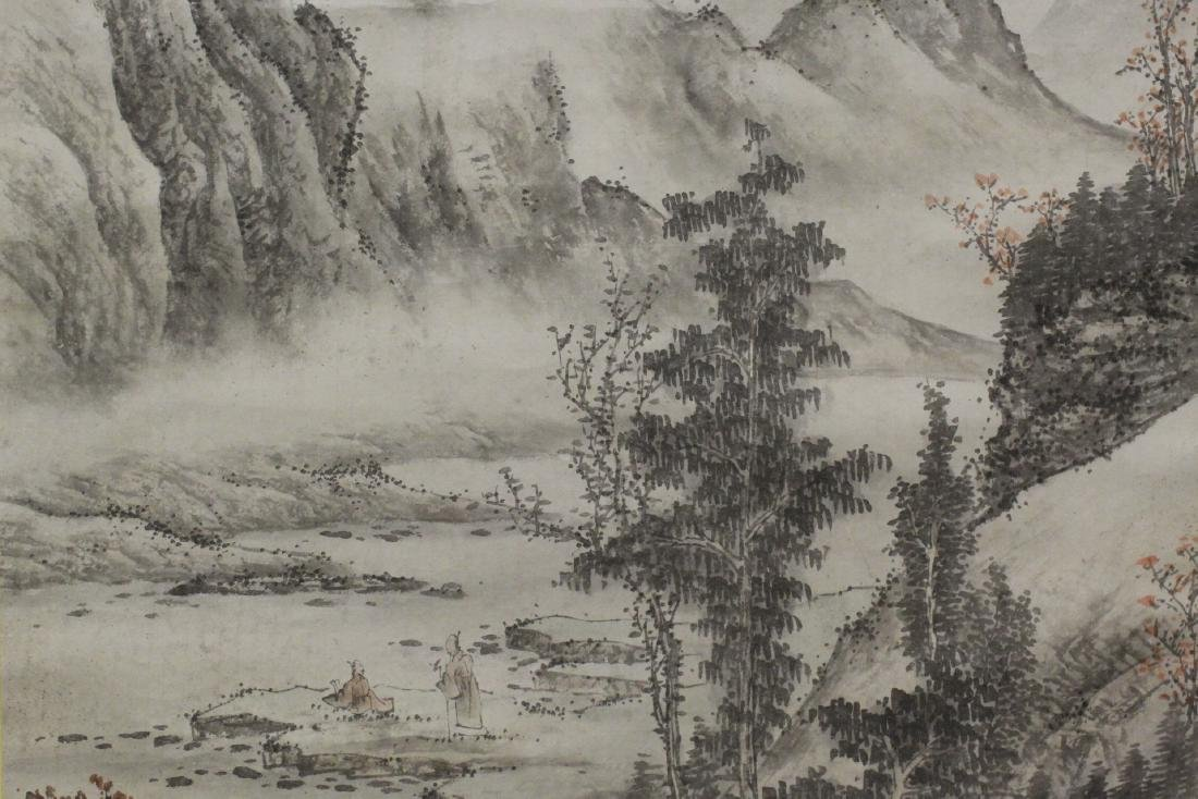 Chinese large watercolor scroll - 8