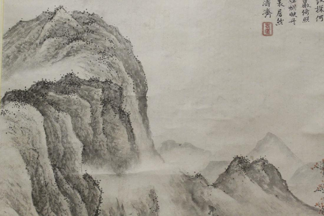 Chinese large watercolor scroll - 9