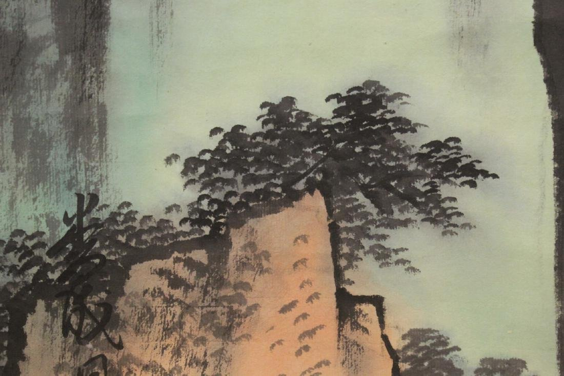 "Chinese watercolor scroll ""mountain landscape"" - 10"