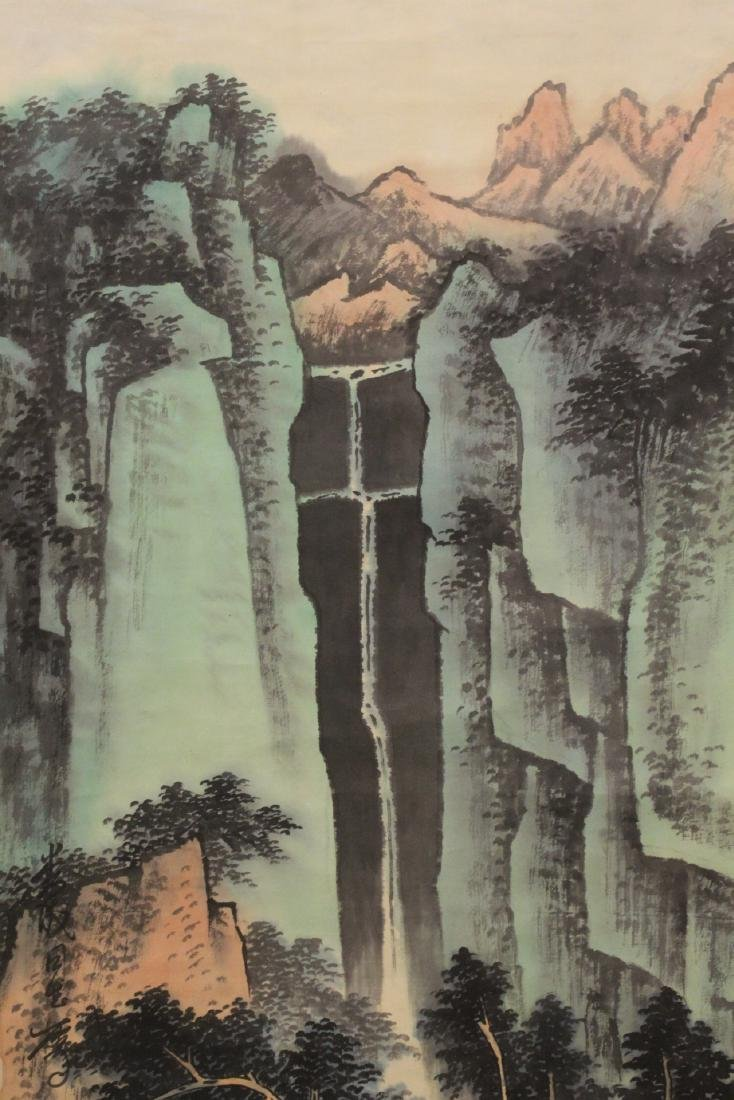 "Chinese watercolor scroll ""mountain landscape"" - 4"