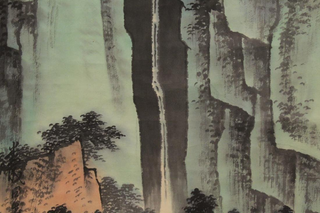 "Chinese watercolor scroll ""mountain landscape"" - 6"