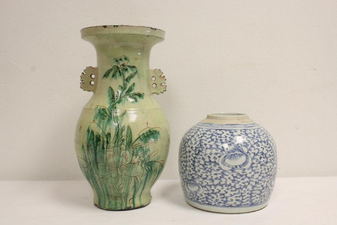 2 Chinese antique jars