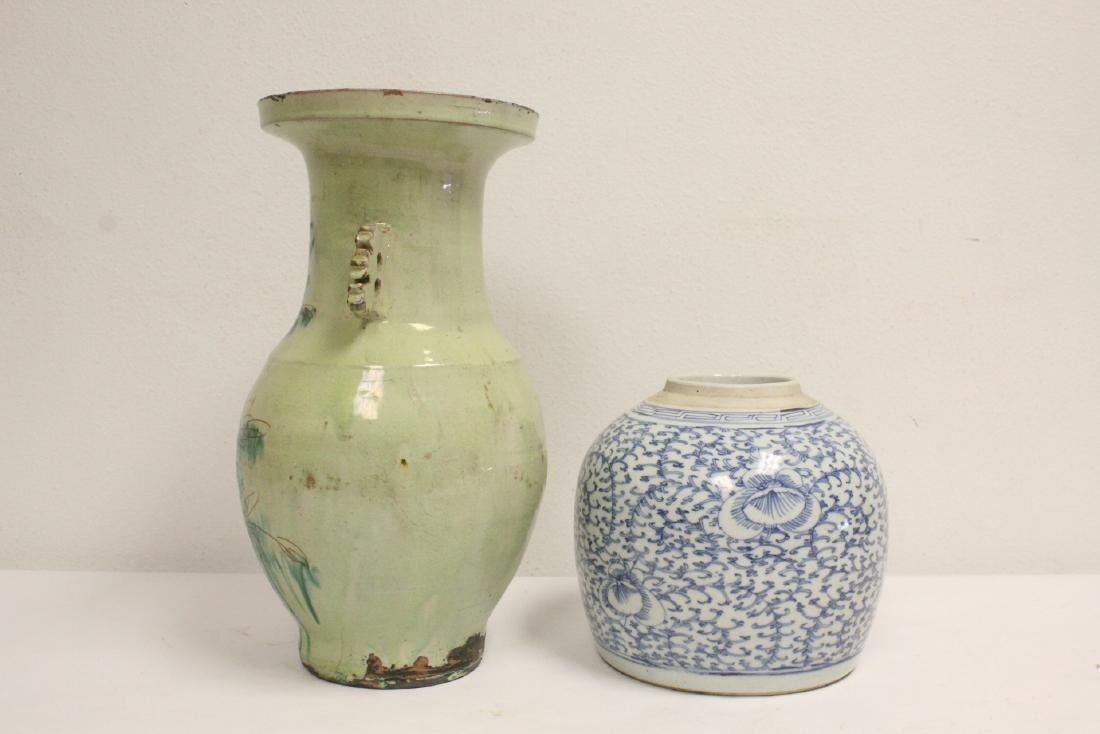 2 Chinese antique jars - 2