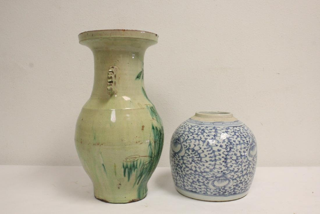 2 Chinese antique jars - 3