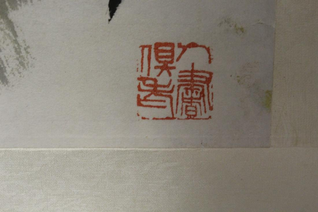 """Chinese watercolor scroll """"birds and flower"""" - 8"""