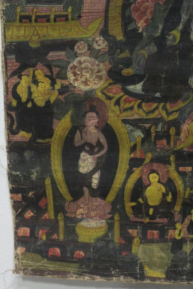 Chinese hand painted thangka - 5