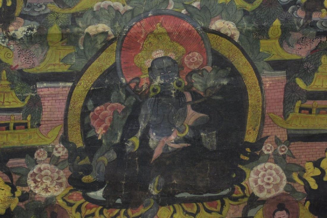 Chinese hand painted thangka - 9