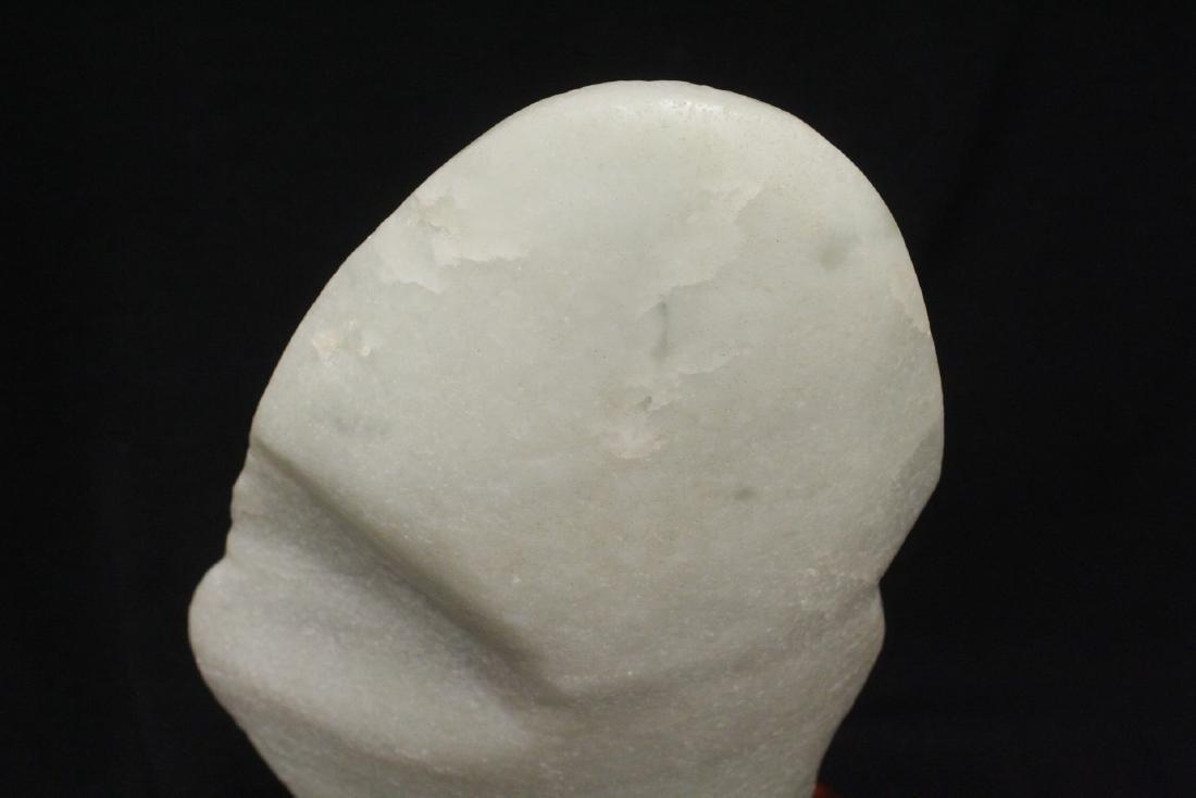 Chinese white jade boulder - 5