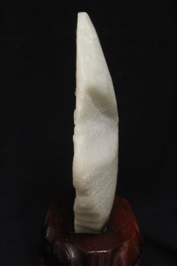 Chinese white jade boulder - 8
