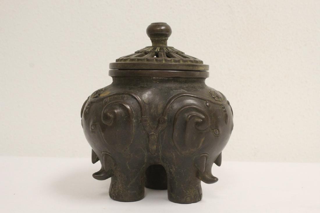 Bronze covered censer - 6
