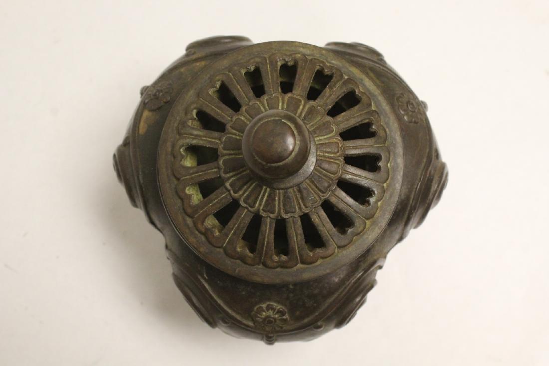 Bronze covered censer - 7