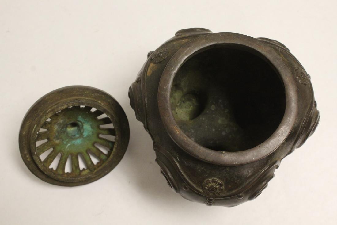 Bronze covered censer - 8