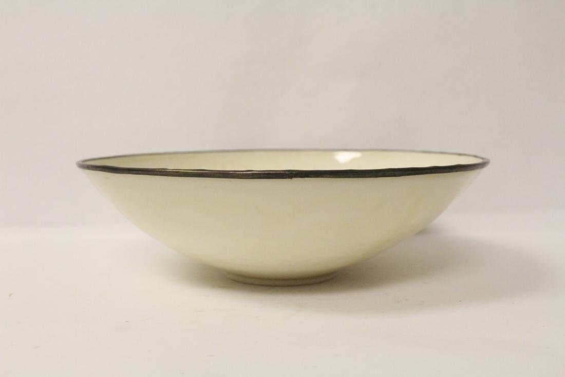 Chinese Song style white porcelain bowl - 4