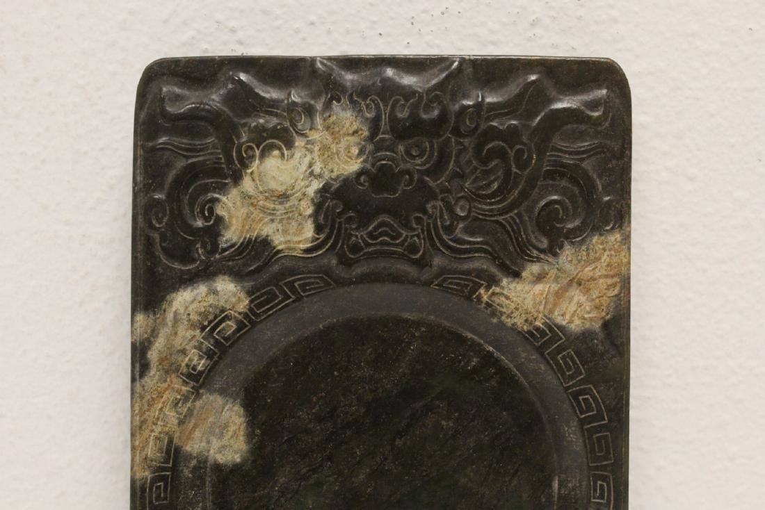 Chinese jade stone inkwell - 2