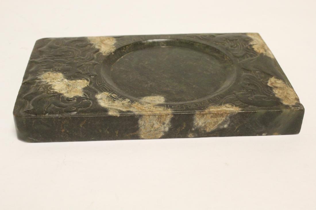 Chinese jade stone inkwell - 7