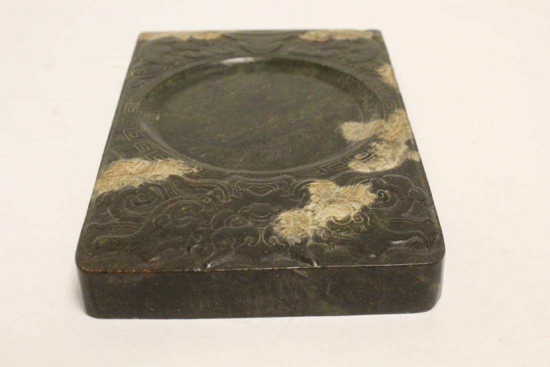 Chinese jade stone inkwell - 8