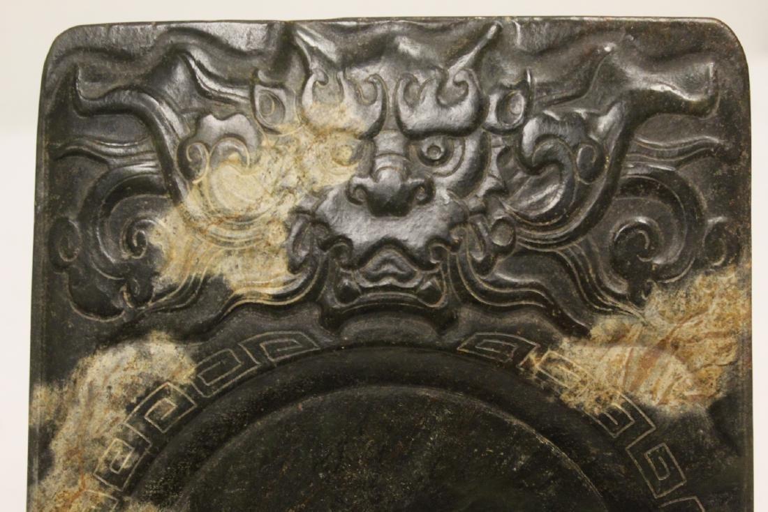 Chinese jade stone inkwell - 9