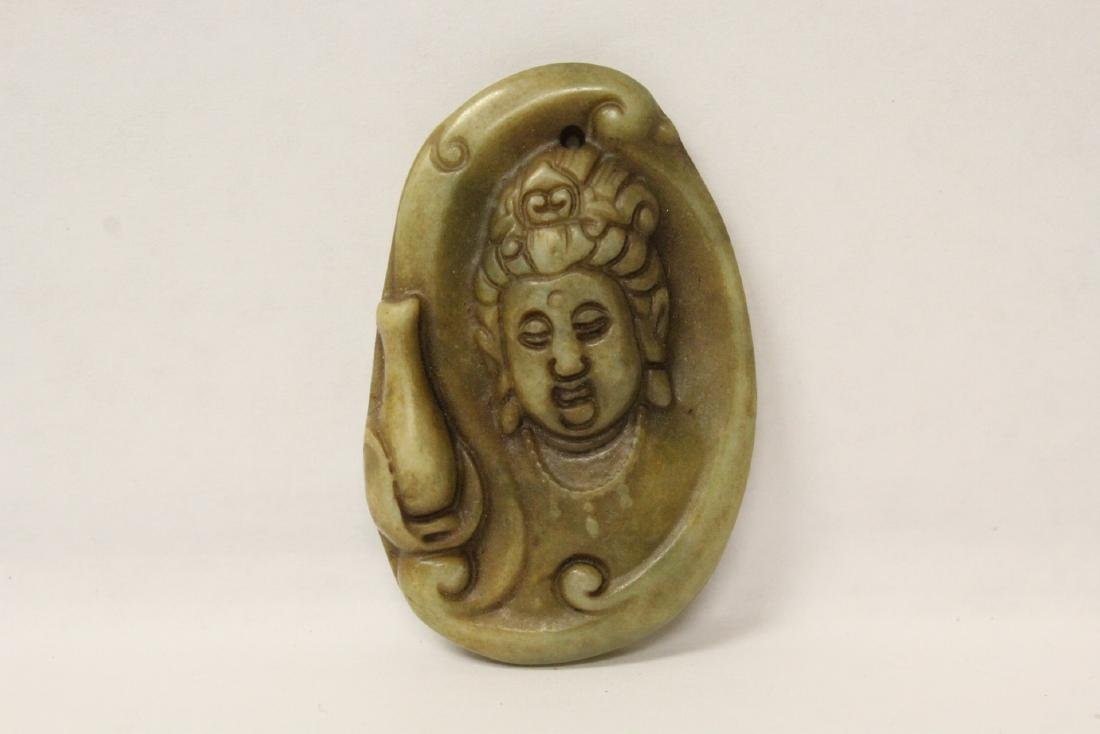4 jade carved ornaments - 8