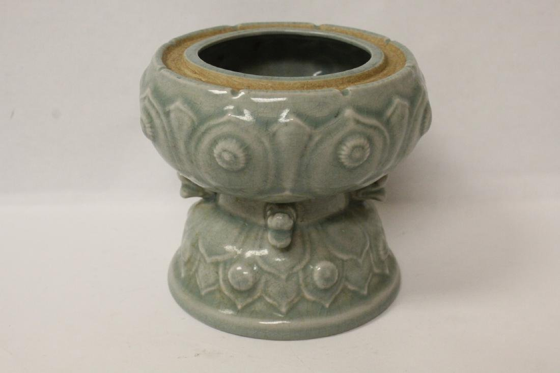 Chinese celadon censer - 7