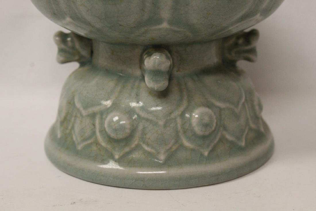 Chinese celadon censer - 8