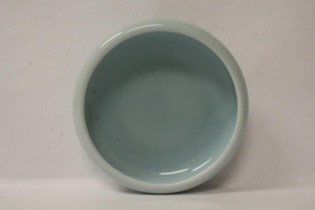 Chinese sky blue glazed brush wash - 6