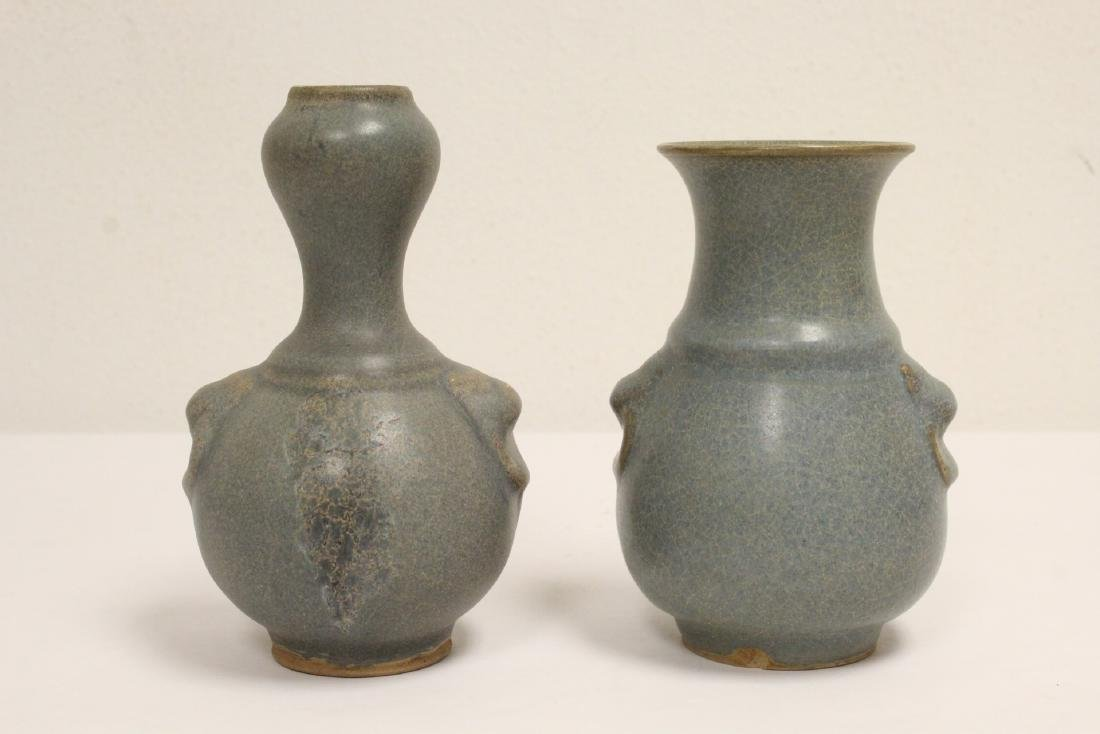 2 Song style porcelain vases