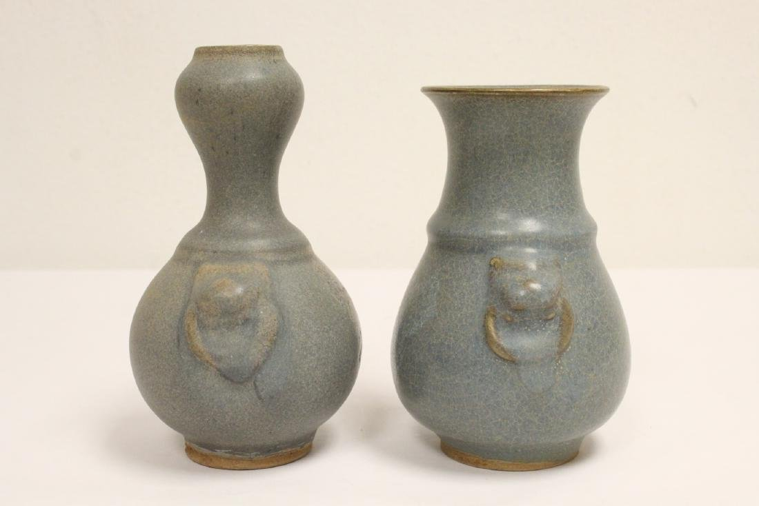 2 Song style porcelain vases - 3