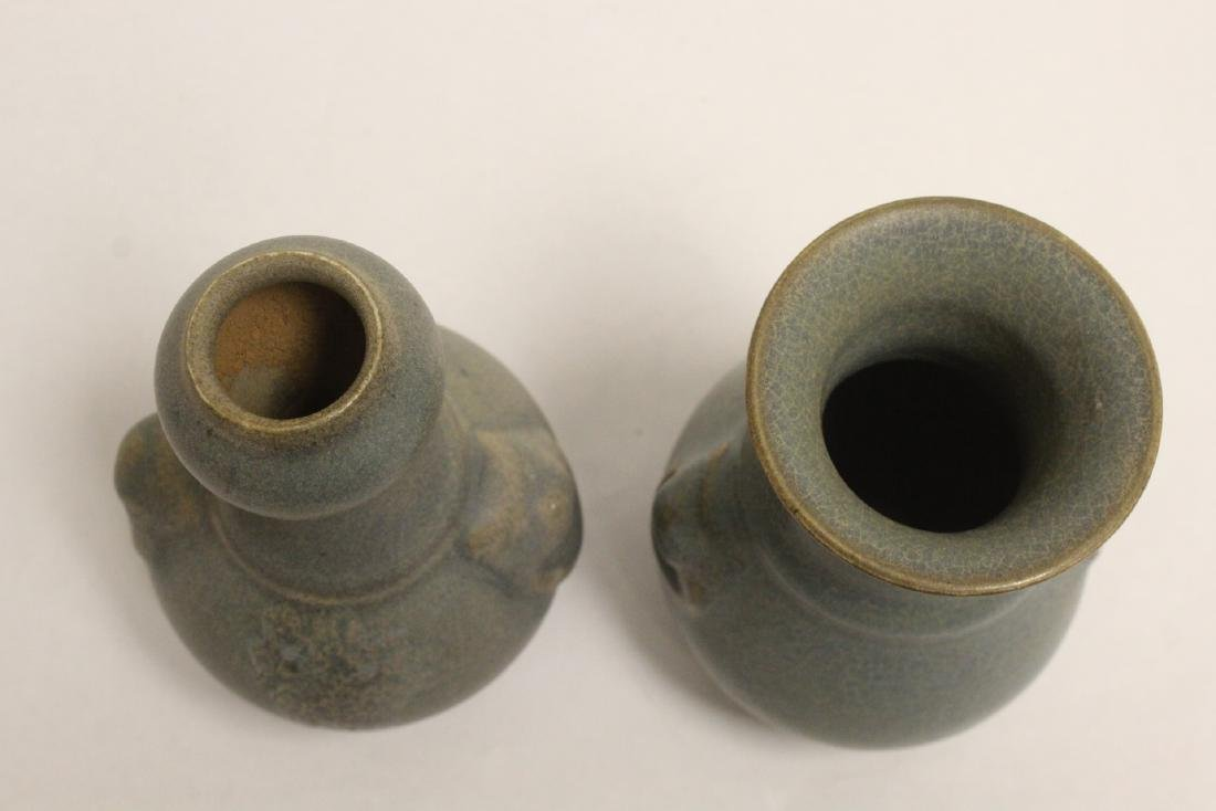 2 Song style porcelain vases - 4