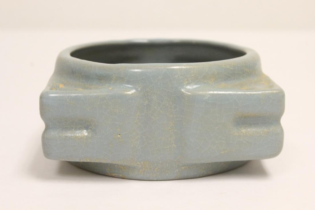 Song style porcelain bowl, and a square censer - 6
