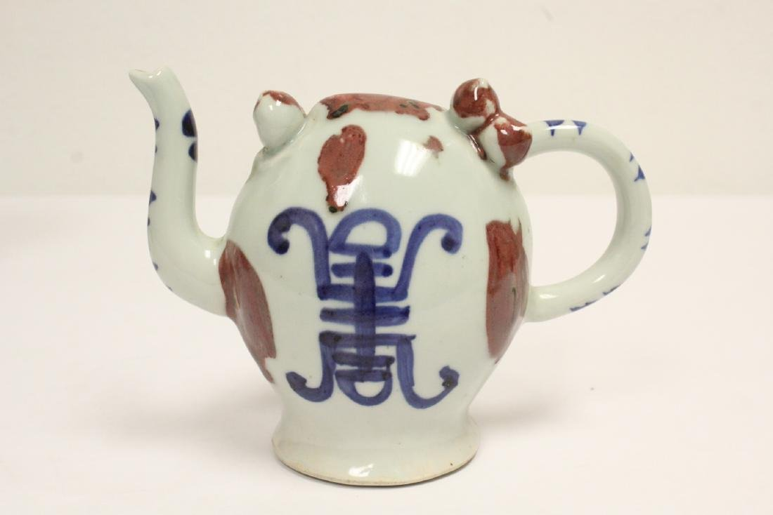 Wucai porcelain vase, and a wine server - 10
