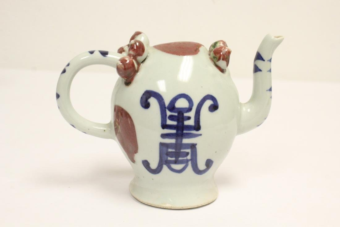 Wucai porcelain vase, and a wine server - 5