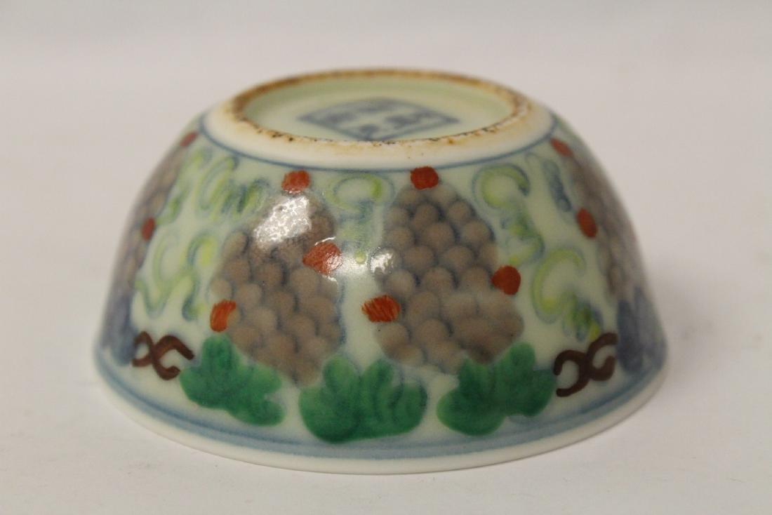 Wucai tea bowl - 9