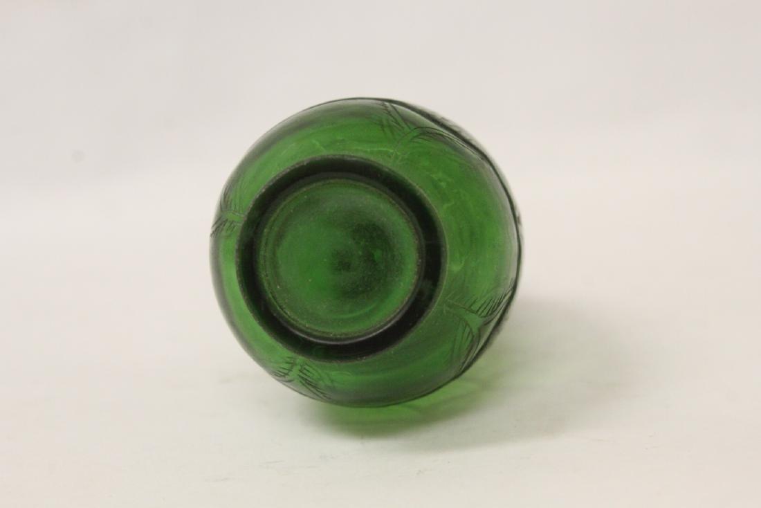 Green Peking glass snuff bottle - 6