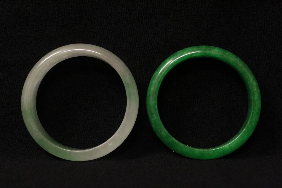 2 jade like stone bangle bracelets