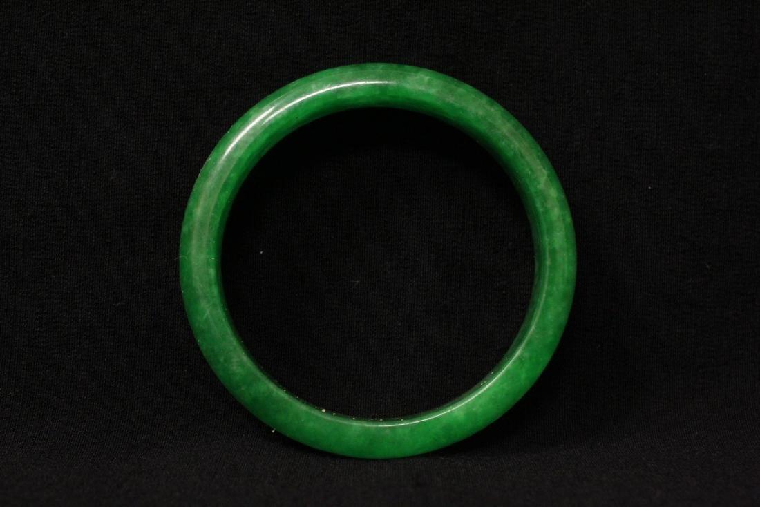 2 jade like stone bangle bracelets - 2
