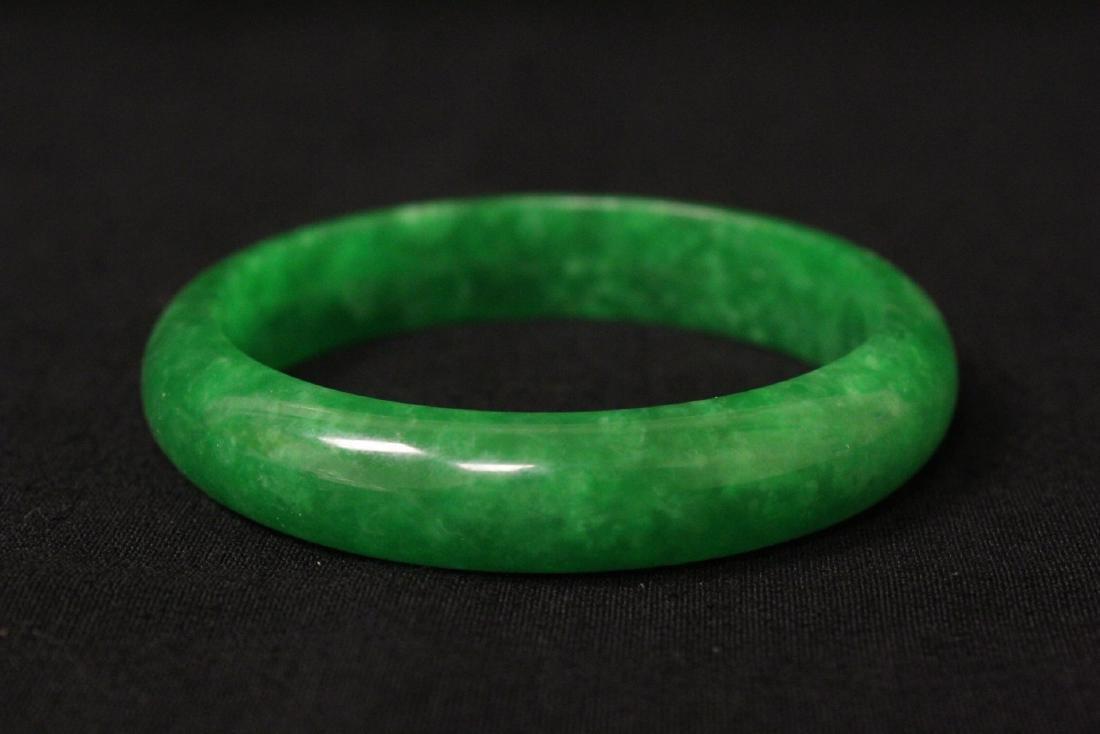 2 jade like stone bangle bracelets - 3