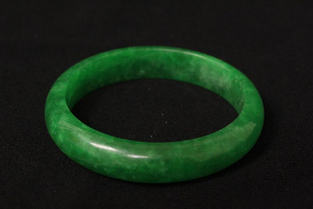 2 jade like stone bangle bracelets - 5
