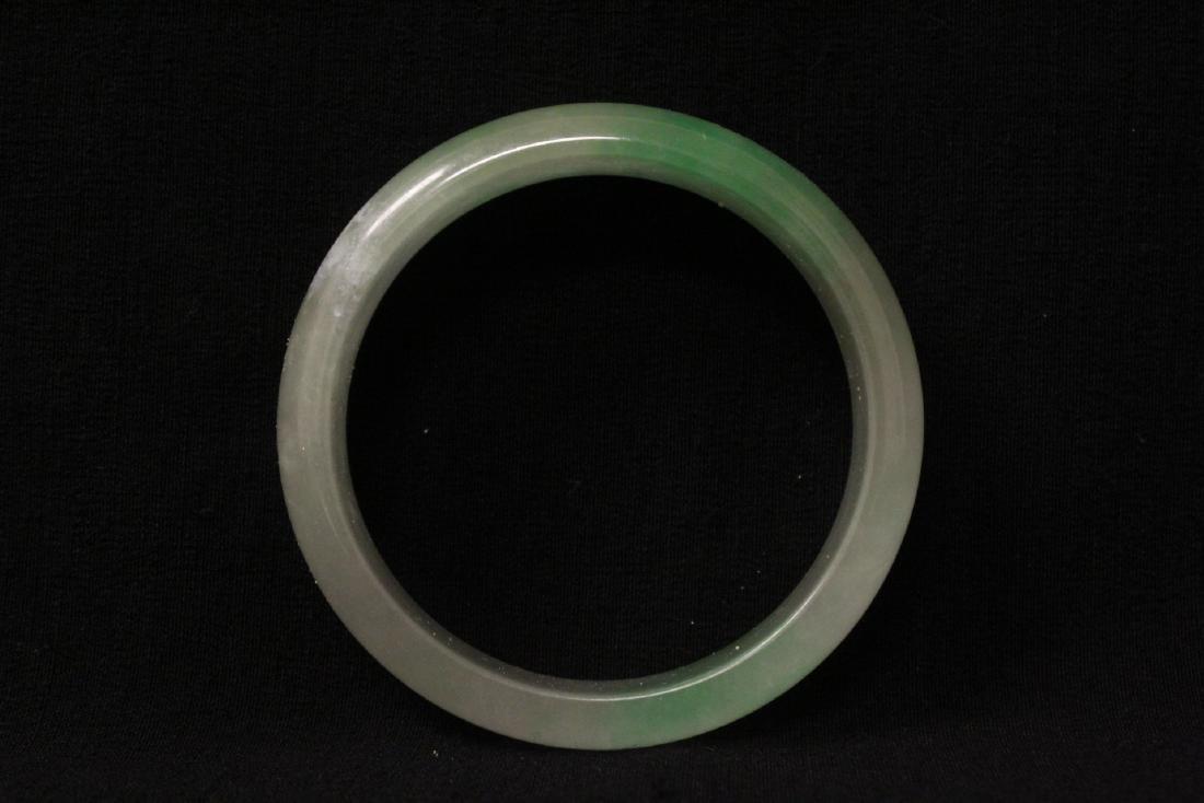 2 jade like stone bangle bracelets - 7