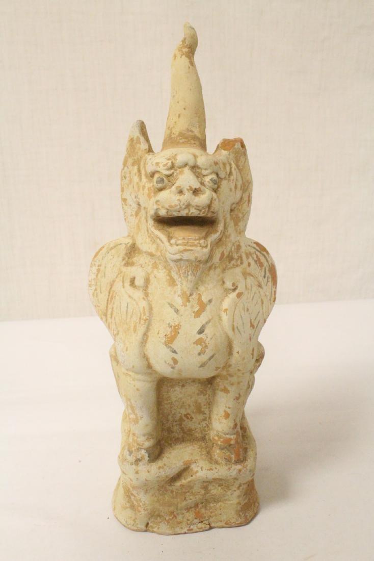 Sancai style pottery standing beast