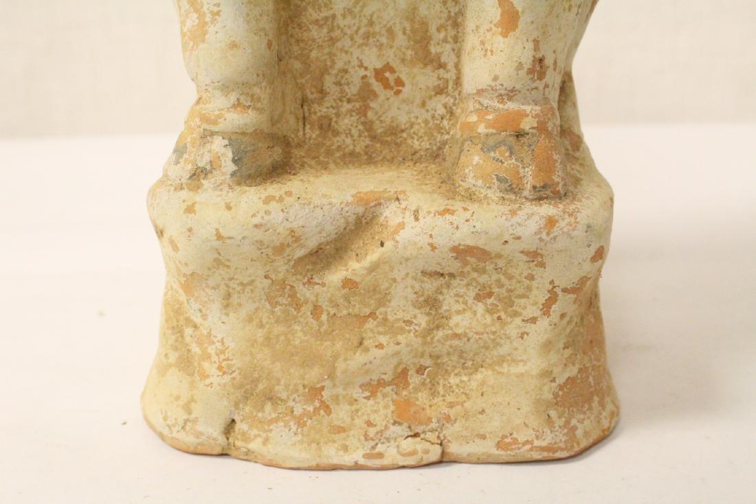 Sancai style pottery standing beast - 4