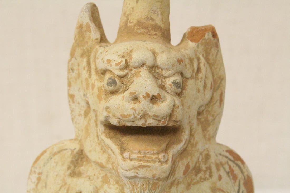 Sancai style pottery standing beast - 5