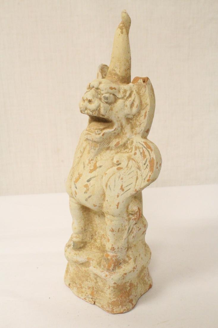 Sancai style pottery standing beast - 6