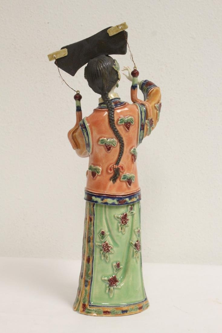 Chinese vintage box, and a Chinese porcelain figure - 8